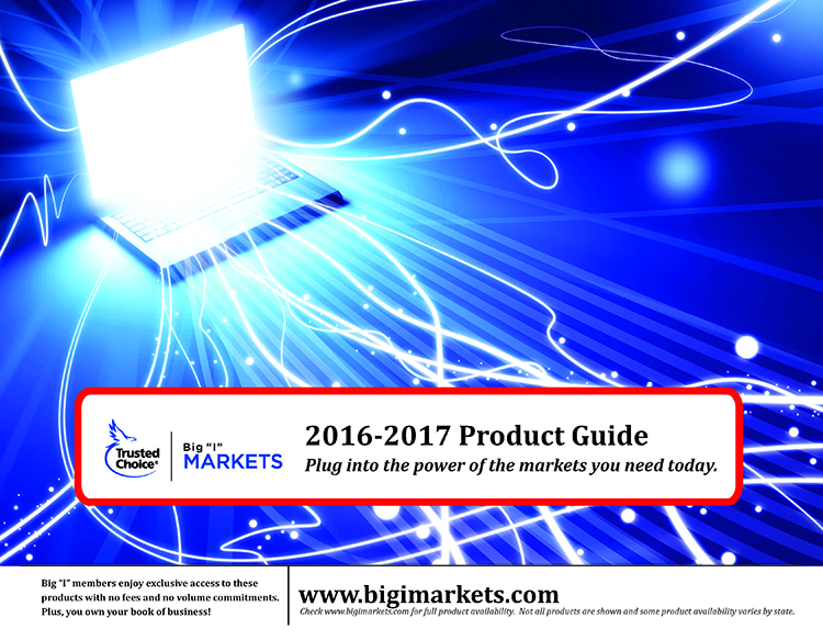 2015-2016 Product Guide: Connecting you to the markets you need. Cover shows a web of blue figures connected together.