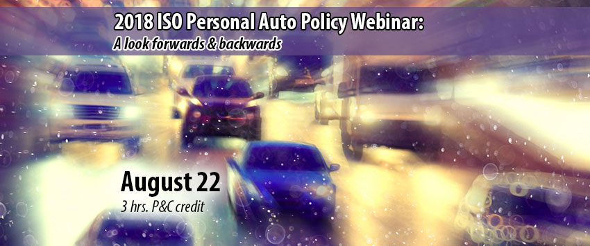 2018 ISO Personal Auto Policy webinar