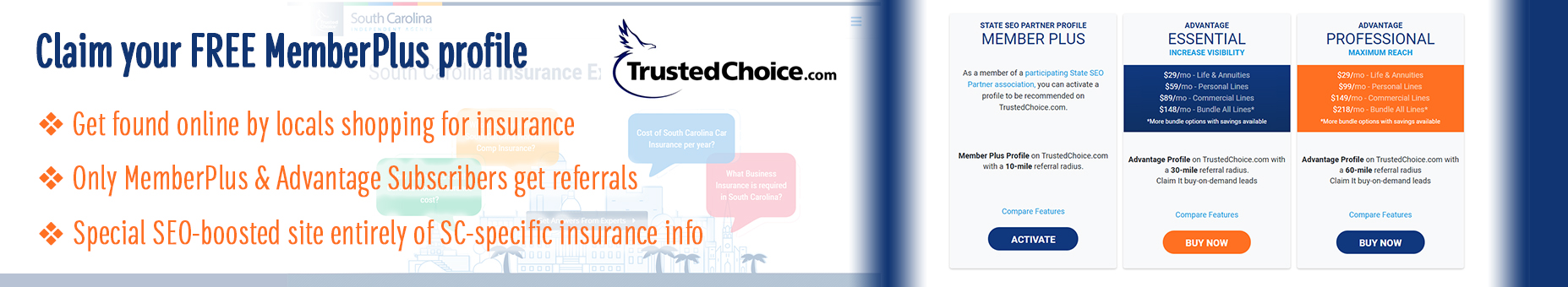 Upgrade your TrustedChoice.com profile for FREE