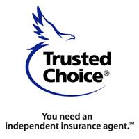 "Trusted Choice logo with ""You need an inndependent insurance agent"" tagline"